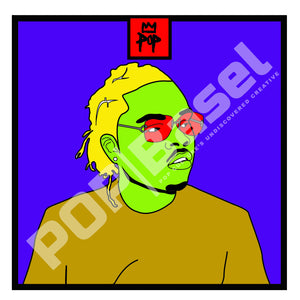 "Art by Kingpop William Floyd ""Gunna In Color"""