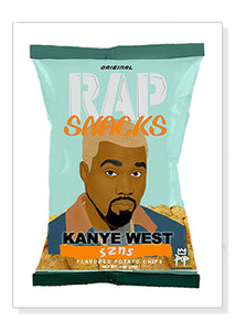 Kanye West Rap Snacks Original Wood Frame Panel 16x20