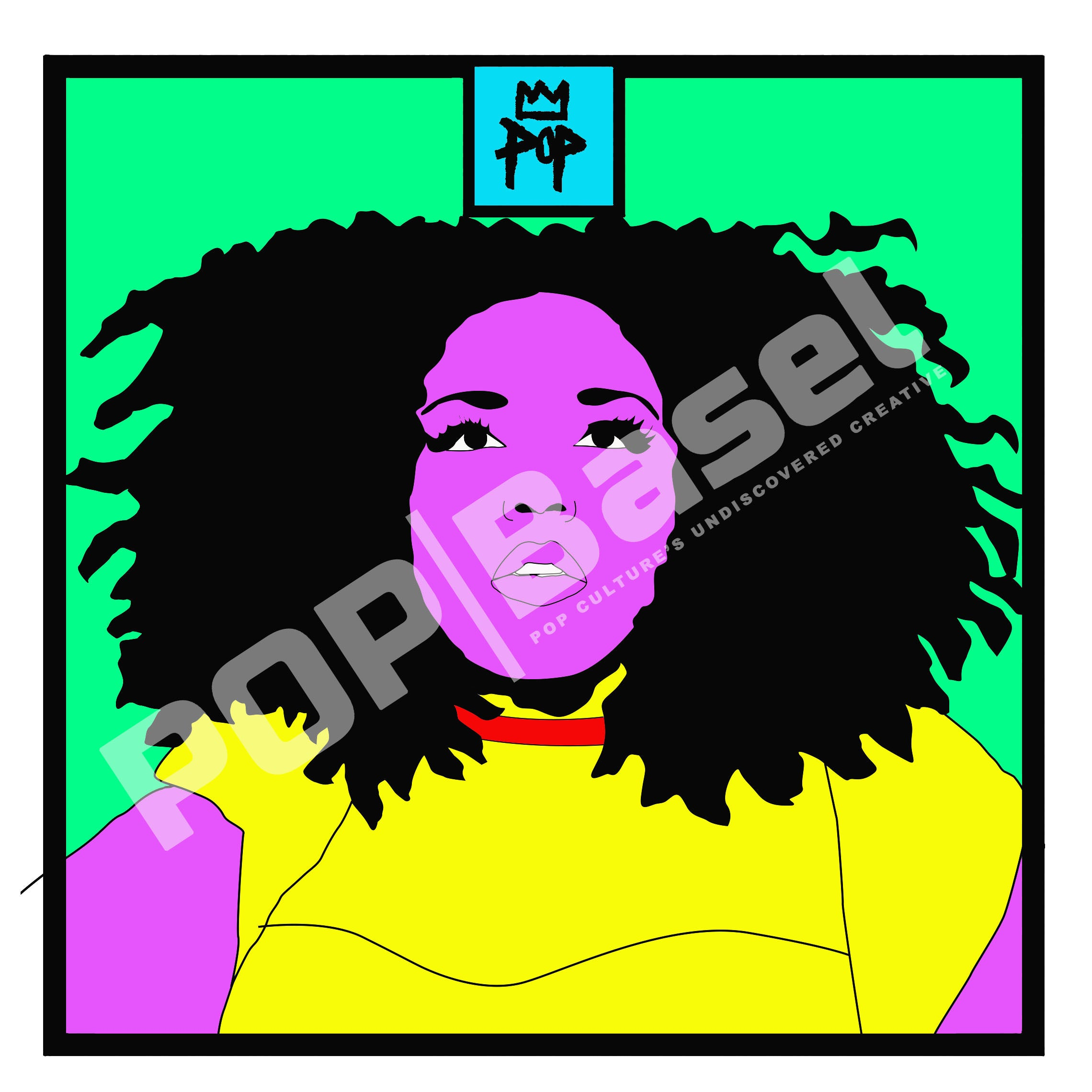 "Art by Kingpop William Floyd ""Lizzo In Color"" 13x13 Print"