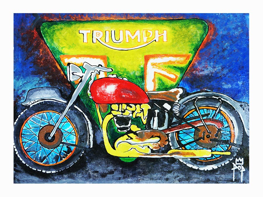 "Art by Kingpop William Floyd ""Triumph Motors"""