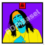 "Art by Kingpop William Floyd ""Wale In Color"""
