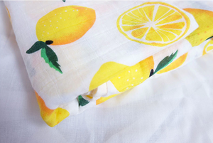 Couverture en mousseline - Citron