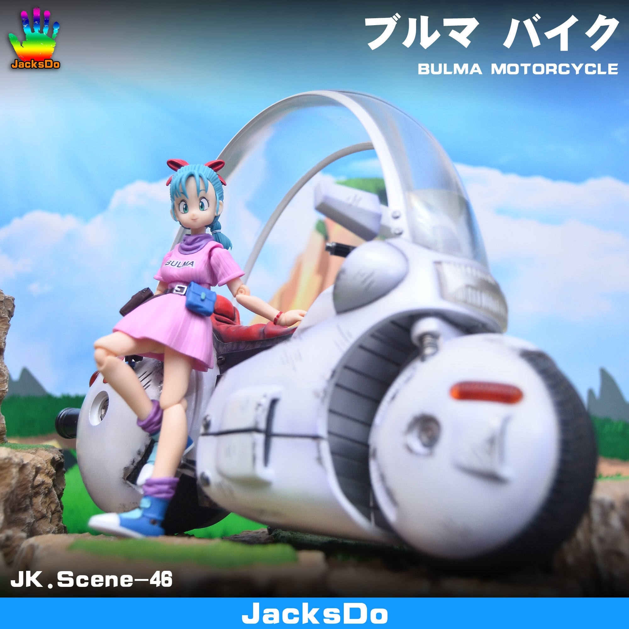 JacksDo Dragon Ball Z Bulma Motorcycle Resin Statue