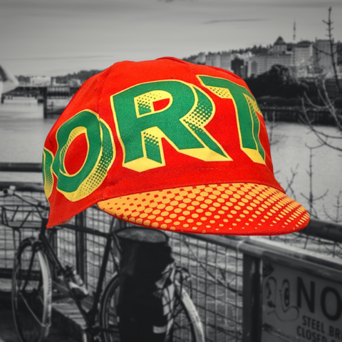 Portland Wrap Cycling Cap Orange | Cento Cycling x Raymi Damo