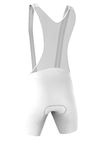 Professional 'POWER' Cycling Bib Shorts in White Made in Italy by GSG