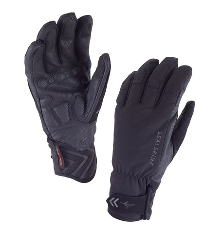 Women's Sealskinz Waterproof Highland Cycling Gloves - winter, black