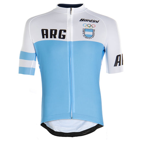 2020 Argentina National Cycling Team Jersey by Santini Blue and White