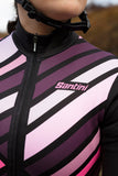 Coral Raggio Jersey by Santini in Black | Cento Cycling
