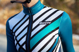 Coral Raggio Jersey by Santini in Teal | Cento Cycling