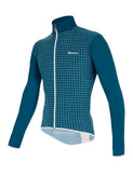 Nebula Cycling Windbreaker by Santini in Teal | Cento Cycling