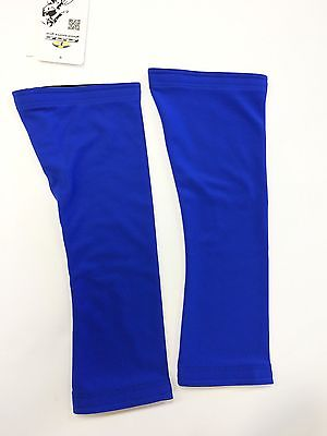 No Logo Super Roubaix Cycling KNEE WARMERS in Royal Blue - Made in Italy by GSG