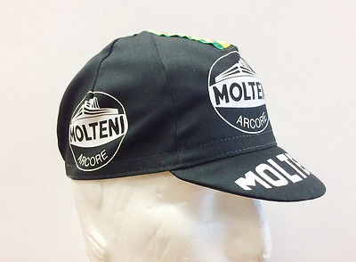 Molteni Cycling Cap in black - Made in Italy by Apis