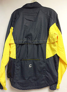 CANNONDALE Men's Morphis CYCLING Rain JACKET windproof, winter, Yellow/Grey