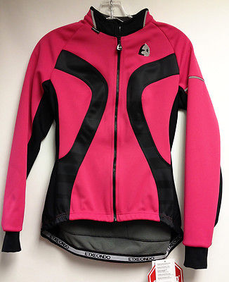 Women's ETXEONDO Medi Windproof CYCLING JACKET in black / Pink. Made in Spain.