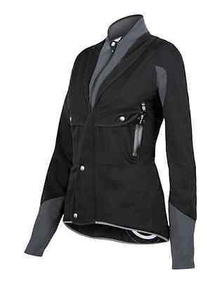 Women's Blackwater Cycling Windproof Jacket in Black Made in Italy by Santini