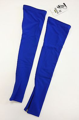 No Logo Super Roubaix Cycling LEG WARMERS in Royal Blue - Made in Italy by GSG