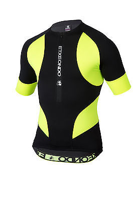 ETXEONDO Trier TX SHORT SLEEVE CYCLING JERSEY in Black /Yellow (Fluor)