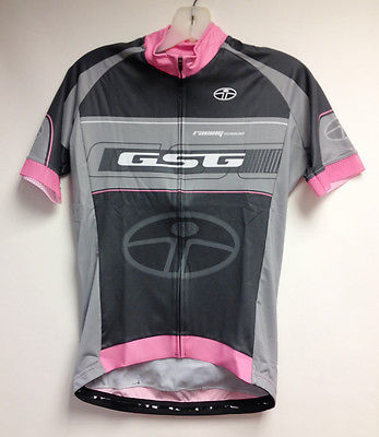 Interpower Women's CYCLING SHORT SLEEVE JERSEY (pink /Grey) Made in Italy by GSG