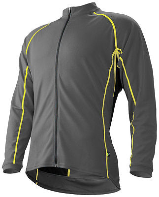 CANNONDALE Classic Mid-Weight Winter CYCLING Long Sleeve Jersey in Grey