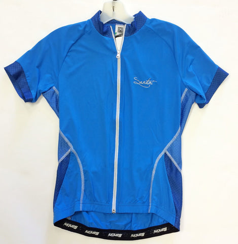 Women's Monella Short Sleeve Cycling Jersey - in Blue - Made in Italy by Santini