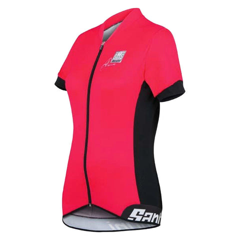 Women's Anna Meares Jersey: Santini Coral Aero Short Sleeve Cycling Jersey