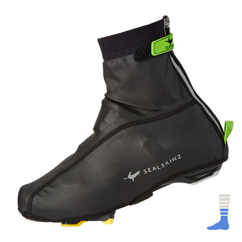 SealSkinz Windproof Cycling Lightweight Overshoe/Booties/Shoe covers in black
