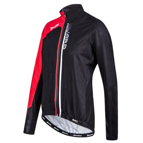 Guard 2.0 Rainproof CYCLING JACKET - in Black/Red - Made it Italy by Santini