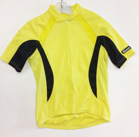 Real CYCLING SHORT SLEEVE JERSEY in yellow - Made in Italy by Santini