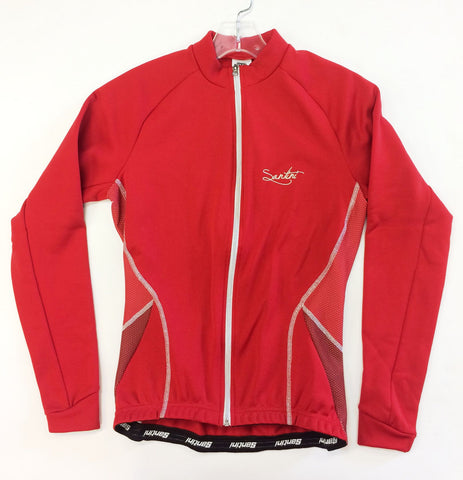 Women's Monella Cycling Long Sleeve Jersey in Red. Made in Italy by Santini