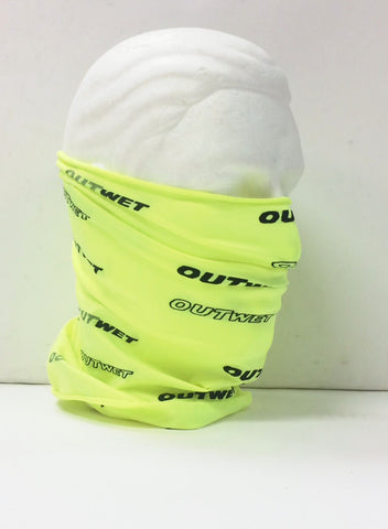 Hi Vis Yellow NECK GAITER for cycling, running, skiing, hiking -by Outwet