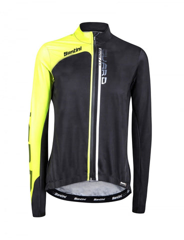Guard 2.0 CYCLING Rain JACKET - in Black / Yellow - by Santini