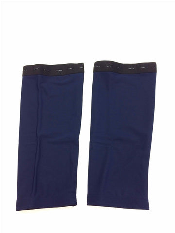 2018 No Logo Roubaix Cycling Knee WARMERS in Navy- Made in Italy by GSG