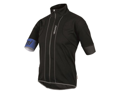 Reef Rain CYCLING SHORT SLEEVE JERSEY (Black) Made in Italy by Santini