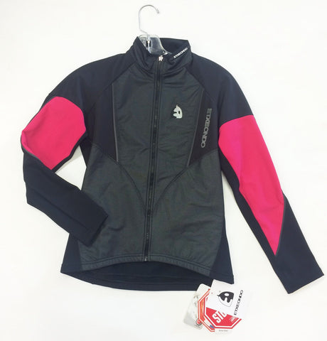 Women's Seida Winter Cycling Jacket by Exteondo in Black and Pink. Made in Spain