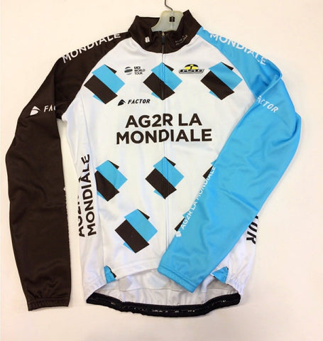 TEAM AG2R Winter CYCLING LONG SLEEVE JERSEY -  Made in Italy by GSG