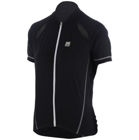 Women's Charm Short Sleeve Cycling Jersey in Black - Made in Italy by Santini