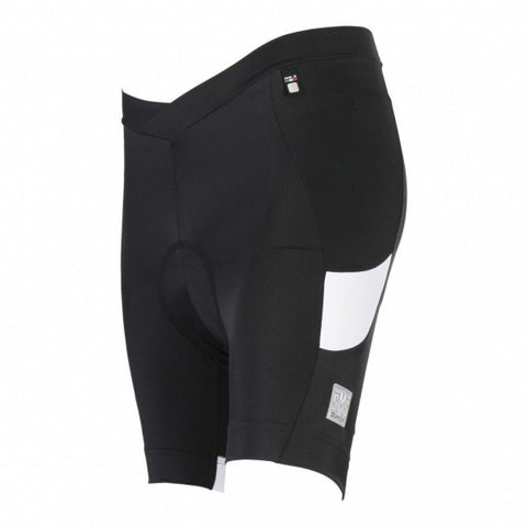 Women's REA Cycling Shorts - Black - Made in Italy by Santini