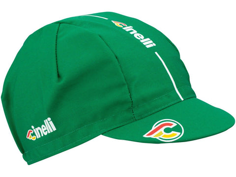 Cinelli Cap Collection:  Cinelli Supercorsa Cycling Cap in Jaguar Green | Cento Cycling