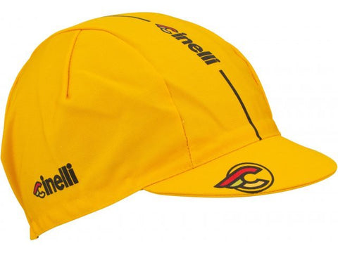 Cinelli Supercorsa Cycling Cap - Curry Yellow | Cento Cycling