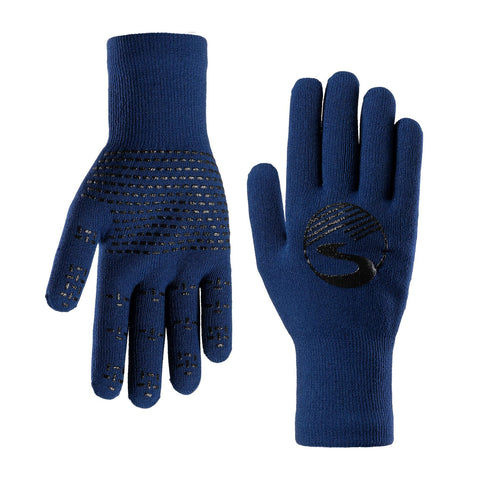 2019/20 Crosspoint Knit Waterproof Gloves Blue Showers Pass