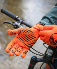 Crosspoint Waterproof Cycling Glove Orange