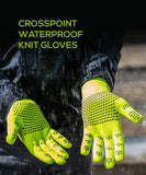 2019/20 Crosspoint Knit Waterproof Gloves Green Showers Pass