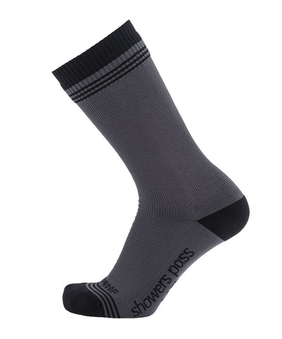 2019/20 Crosspoint Waterproof Wool Crew Socks Grey/Black Showers Pass