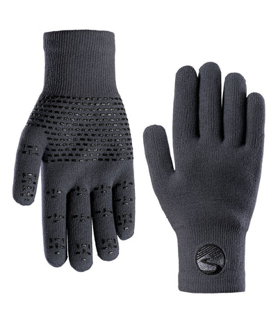 2019/20 Crosspoint Waterproof Wool Knit Gloves Grey Showers Pass