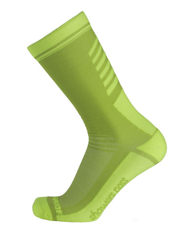 2019/20 Lightweight Waterproof Crosspoint Socks Neon Green Showers Pass