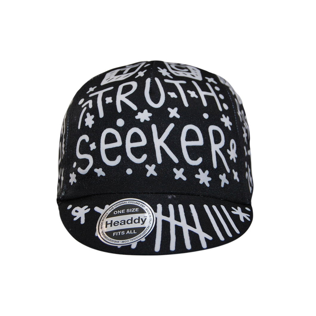 Chas Christiansen X Headdy NotChas 'Truth Seeker' Cycling Cap in Black | Cento Cycling