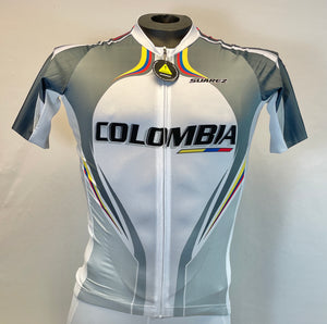 2011 Columbian Collection Jersey in Grey Made in Columbia | Cento Cycling