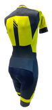 Men's Champion Road Cycling Skinsuit in Blue & Yellow by GSG | Cento Cycling