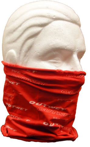 Red NECK GAITER for cycling, running, skiing, hiking - Made in Italy by outwet