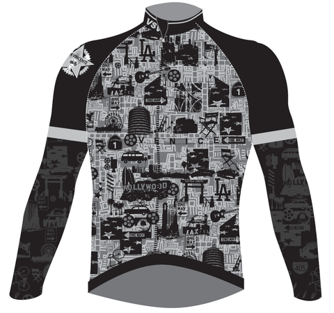 Men's San Vicente CYCLING LONG SLEEVE JERSEY - in grey